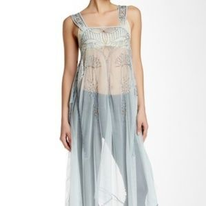 Free people art deco sheer dress slip